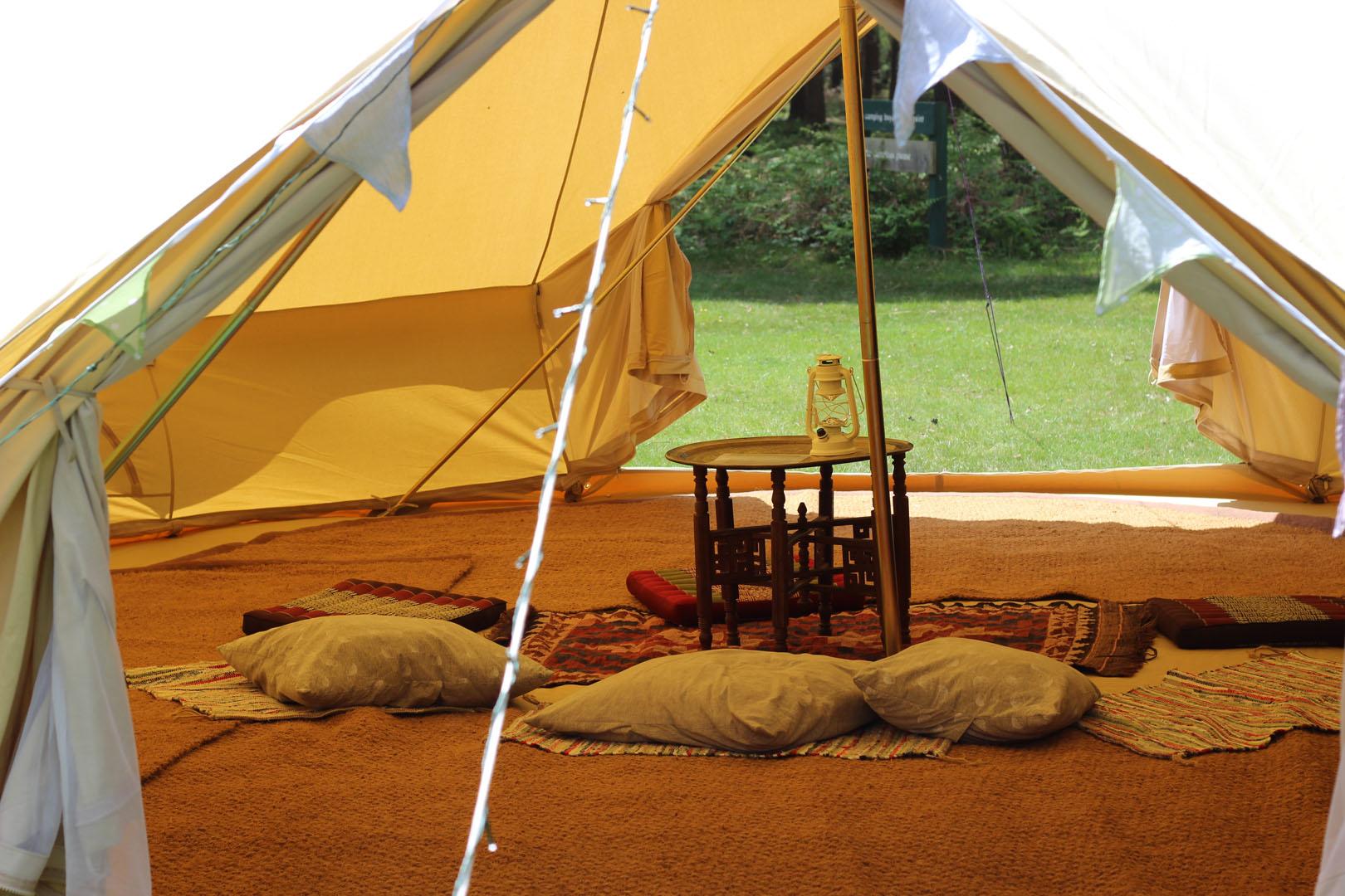 Bespoke glamping bell tent