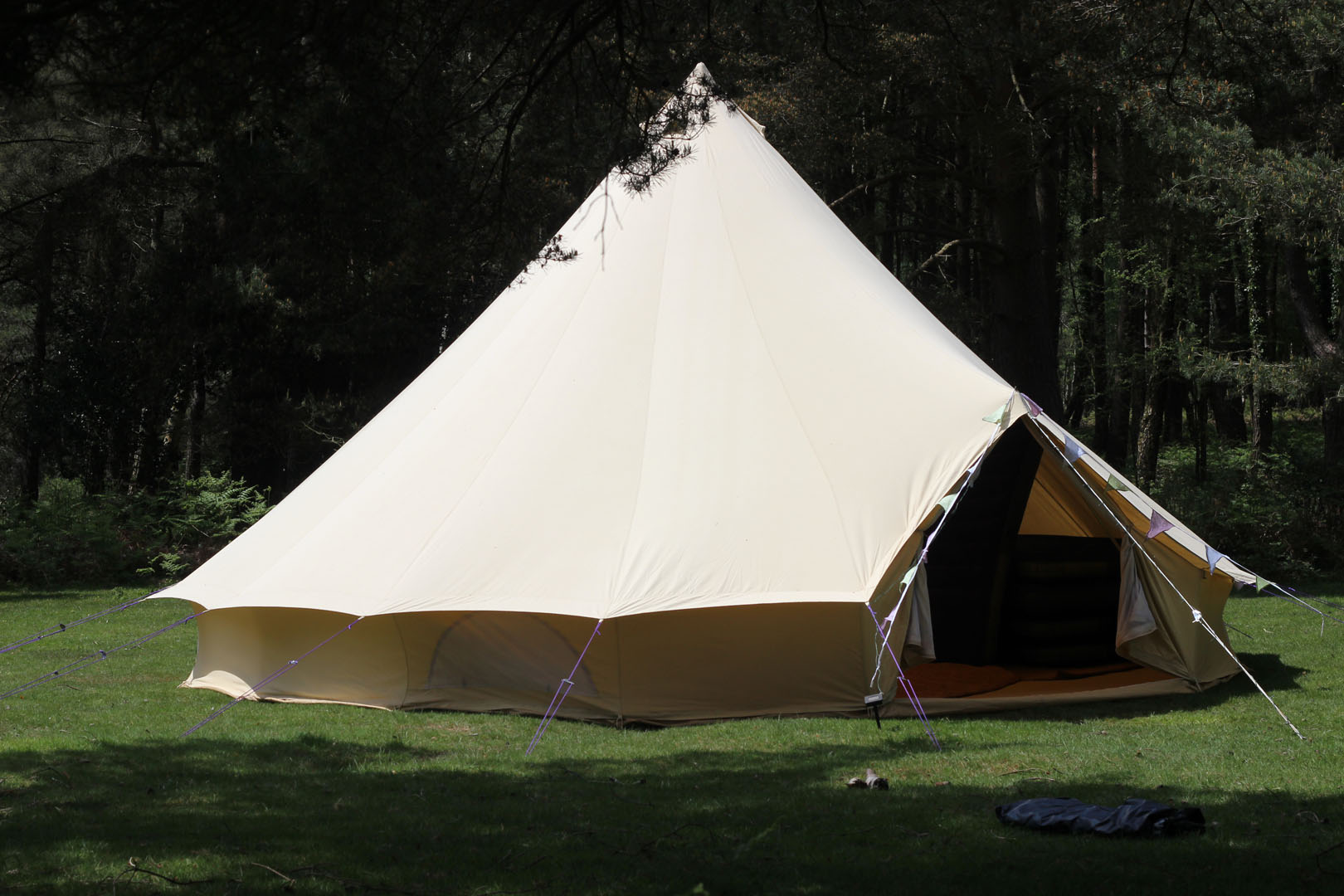 7m bell tent furnished/unfurnished glamping bell tent