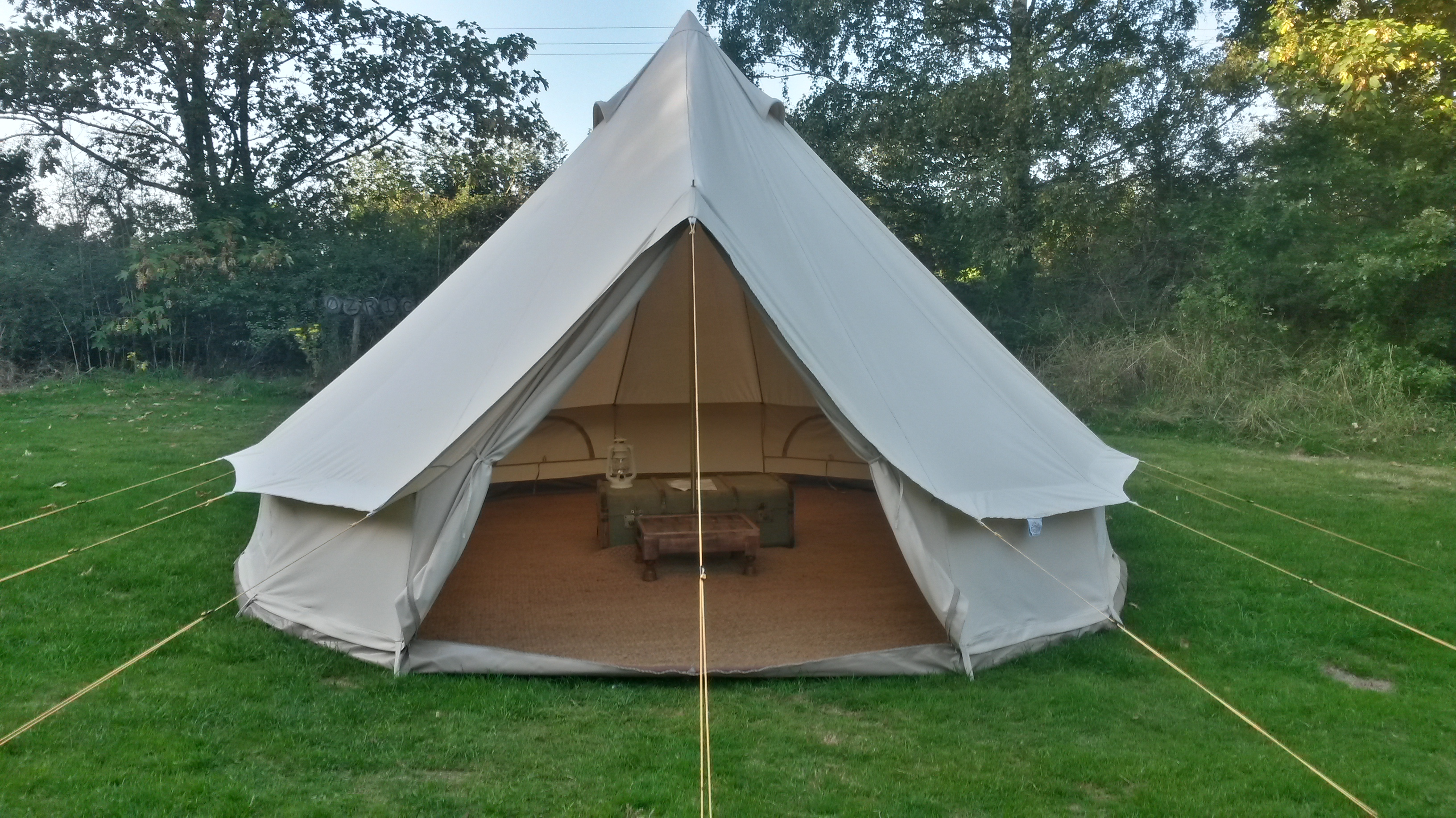 FOR SALE ex-hire 4m Bell Tents - Soulpad 4000-Hybrid G with ZIG and integral chimney exit **9 AVAILABLE**