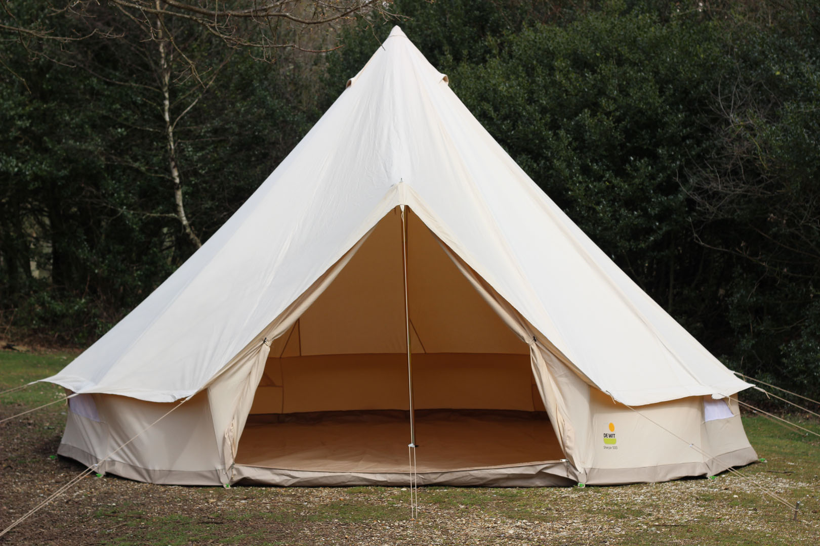 FOR SALE ex-hire 5m Bell Tents - De Witt Sherpa 500 with Sewn In Groundsheet **10 AVAILABLE**